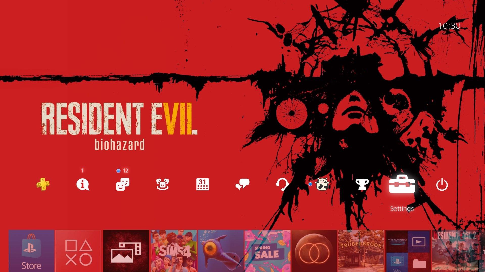 resident evil 7 biohazard theme.original - PlayStation 4 - Guida: i migliori temi gratuiti da scaricare