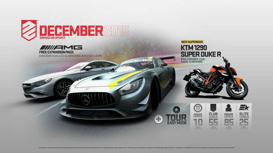 DriveClub PS4 PlayStation 4 Patches Updates