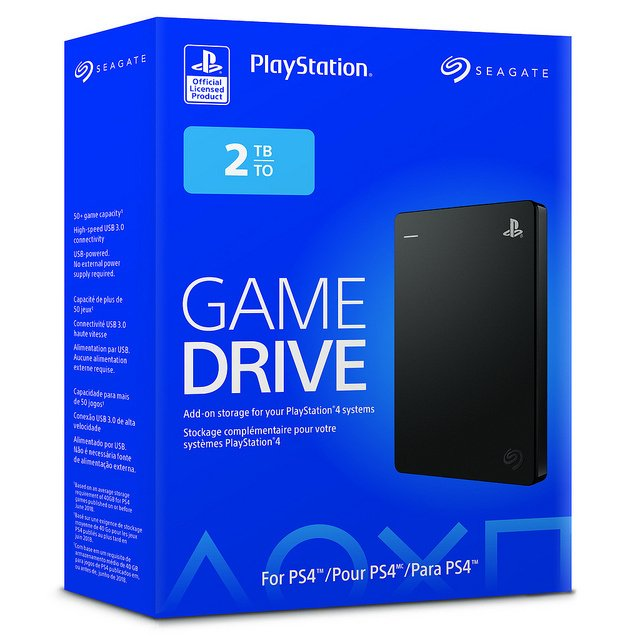 Pay a Premium for the PlayStation Logo on a Licensed Seagate PS4