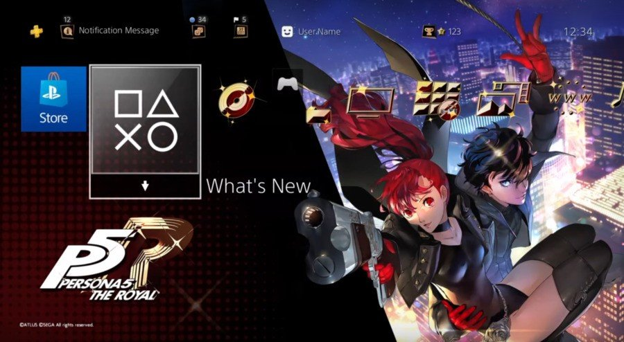 Persona 5 Royal PS4 Theme Dynamic Theme