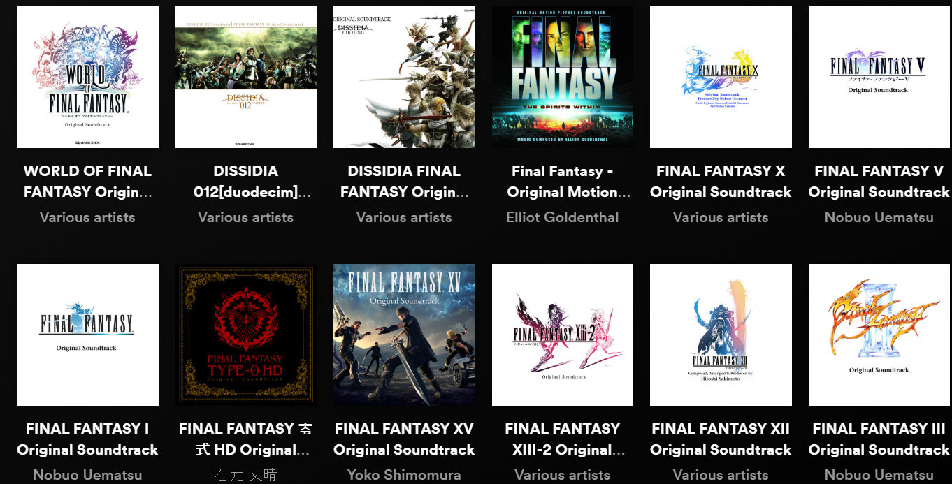 Every Final Fantasy Soundtrack Is Now on Spotify