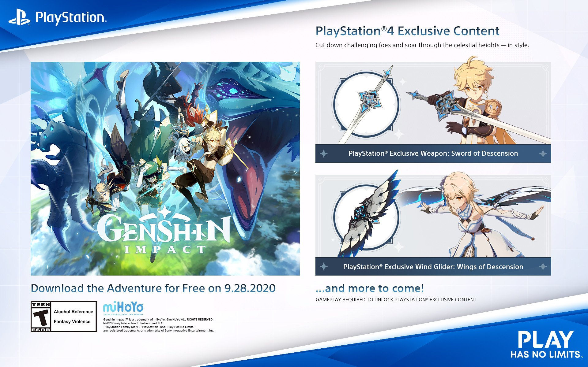 Free To Play Action Rpg Genshin Impact Launches On Ps4 In September Push Square