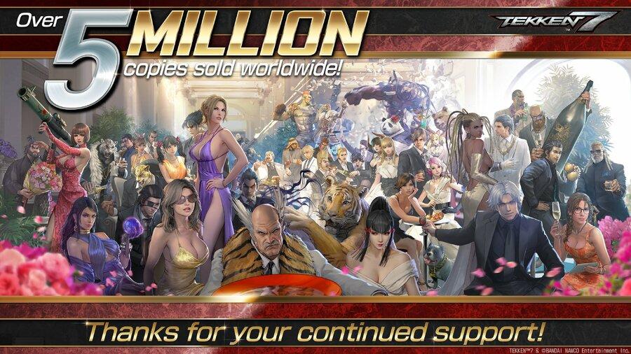Tekken 7 Sales 5 Million Character Art