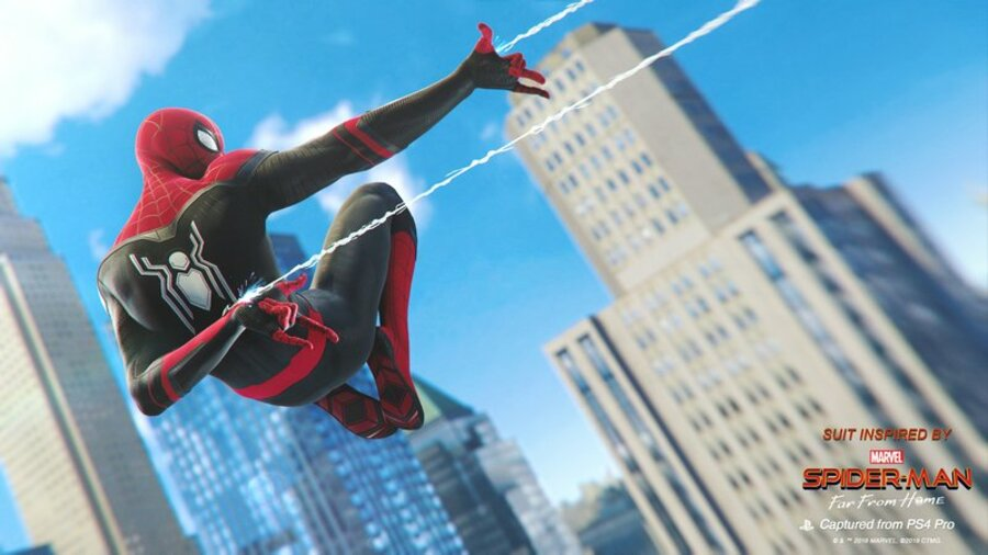 Marvel's Spider-Man PS4 PlayStation 4 Far From Home Suits