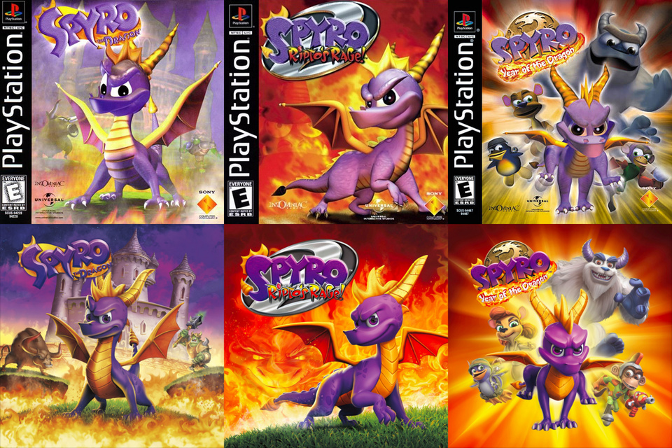 reminisce with recreations of the spyro trilogys original