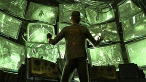 Batman: Arkham City's The Riddler Does His Very Best Jigsaw Impression.