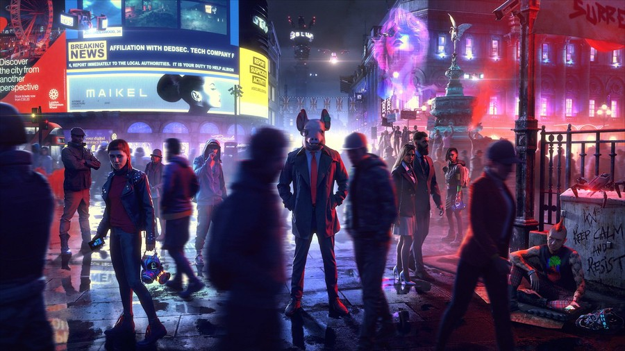 Watch Dogs Legion PS4 Characters