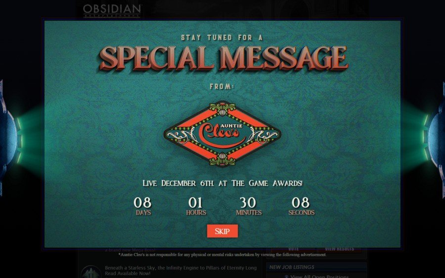 Obsidian Entertainment PS4 PlayStation 4 1