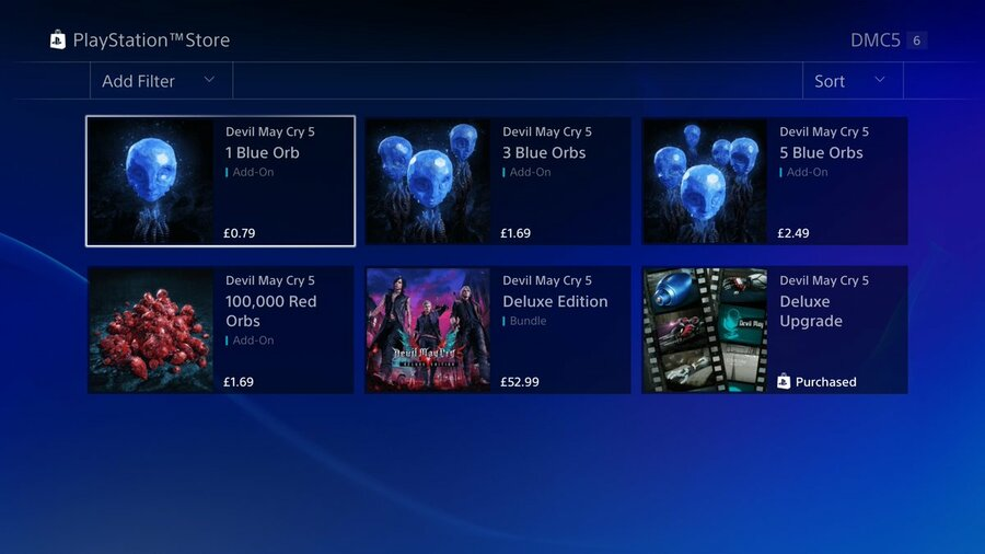 Devil May Cry 5 Microtransactions PS4