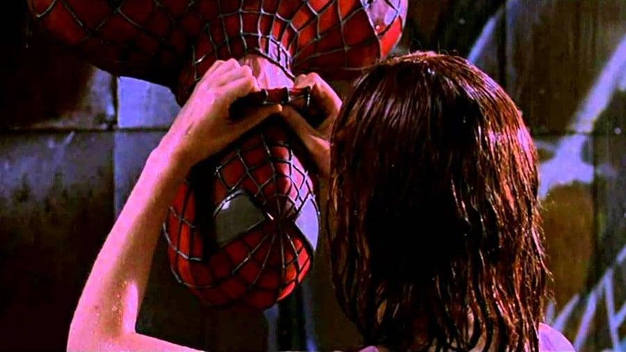 Spider-Man Movie Kiss Scene