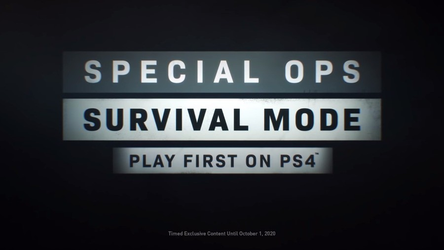 Call of Duty:Modern Warfare Spec Ops Survival Mode Timed Exclusive PS4 PlayStation 4 2