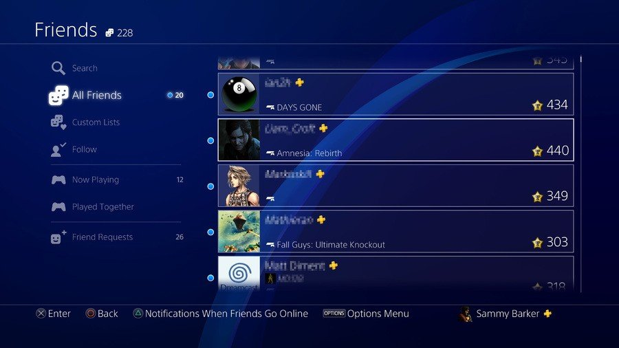 PS4 Friends List PlayStation 4 1
