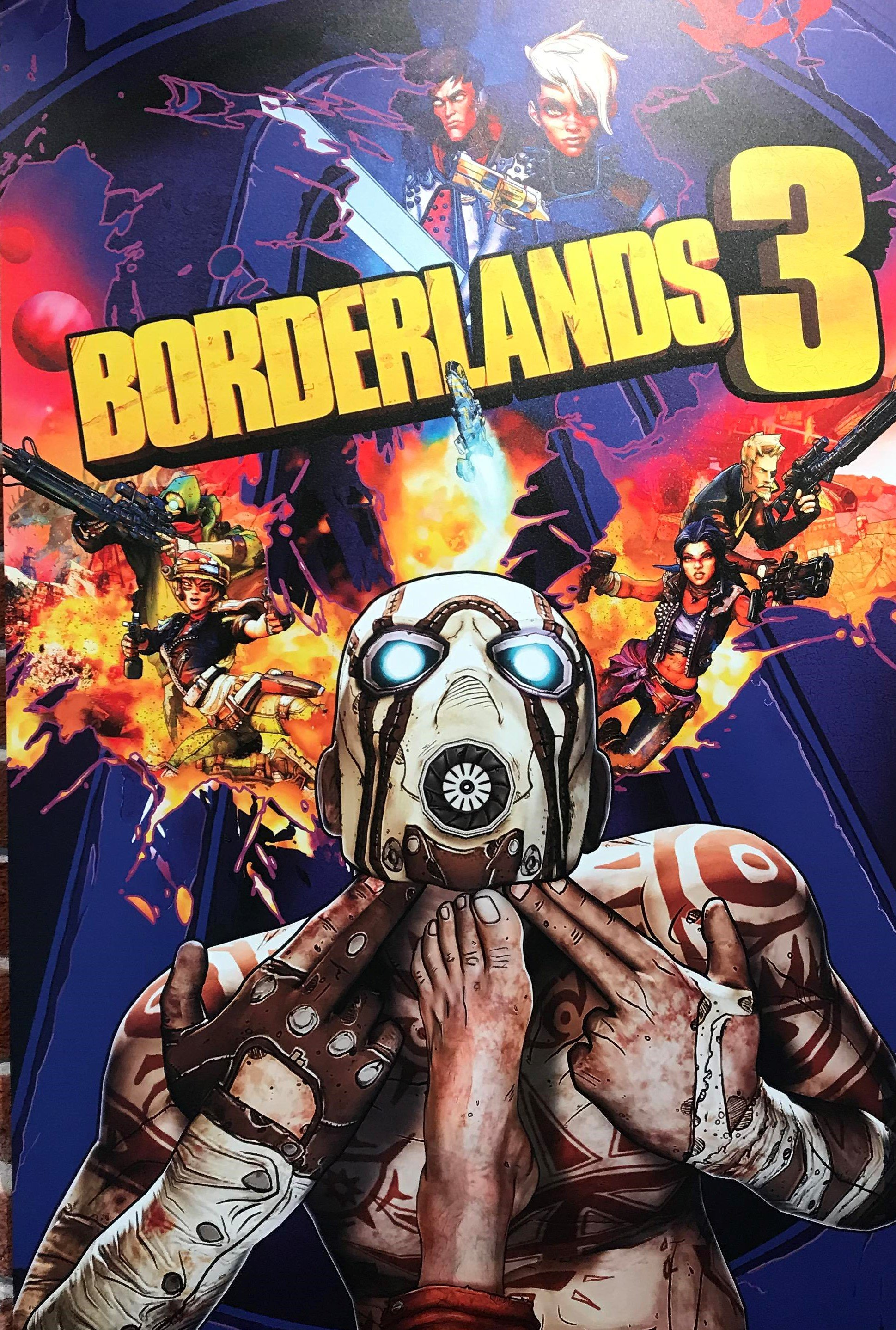 Borderlands 3 - Borderlands 3's Unused Box Art Puts Its Foot in Its Mouth ...