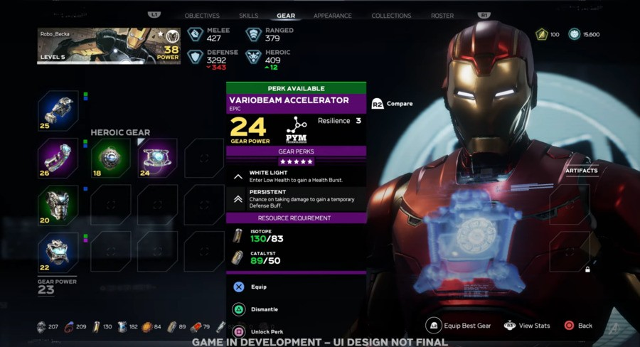 Marvel's Avengers PS4 Gameplay Loot Gear