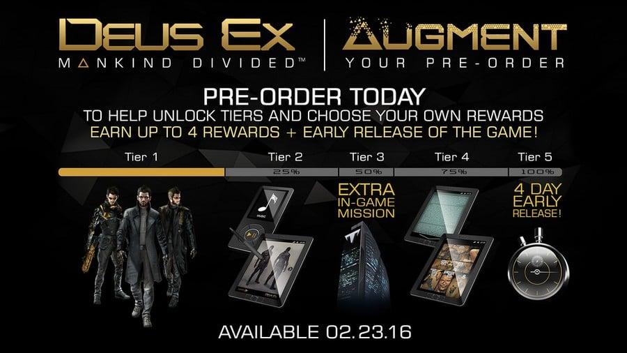 Deus Ex Mankind Divided PS4 Augment Your Pre-Order