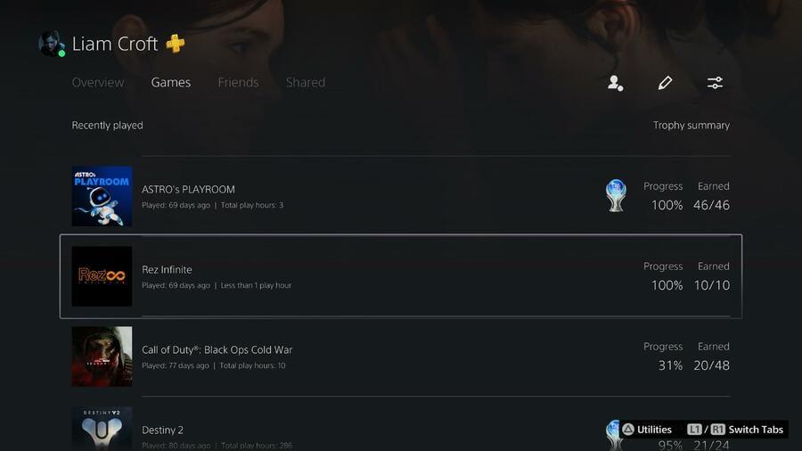 PS5 Profile Listings Wrong