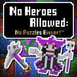No Heroes Allowed: No Puzzles Either! Cover (Click to enlarge)