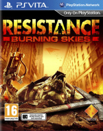 Resistance: Burning Skies Cover (Click to enlarge)