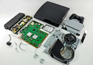 This Is What The Insides Of The PS3 Slim Looks Like.