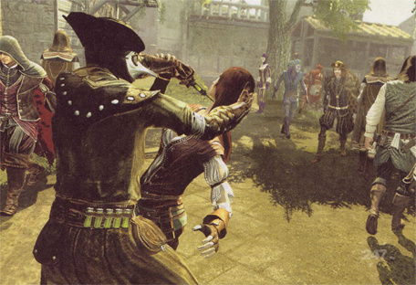 Assassin's Creed: Brotherhood Shots Show Scary Man Running ...