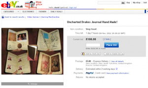 Purchase an exact hand-made replica of Nathan Drake's journal from Uncharted 2: Among Thieves.