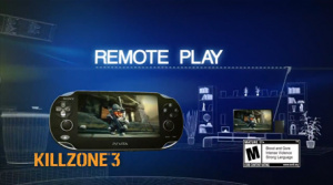 Play Killzone on-the-go with the PS Vita's remote play features.
