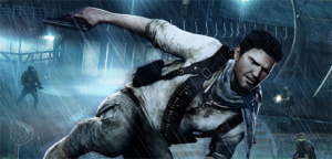 Nathan Drake's en route to check out the latest batch of Uncharted 3 DLC.