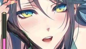 She's blushing