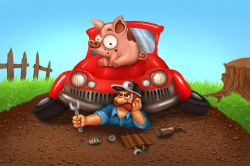 Piggin' vehicles