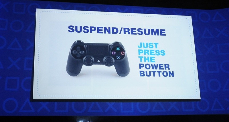 sony puts ps4 s suspend feature on hold until after launch