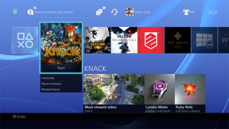 PS4 User Interface 1