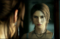 Yup, that's a reflection of Lara Croft