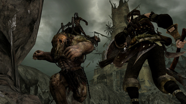 Dark Souls 2 Screens Battle Against Giant