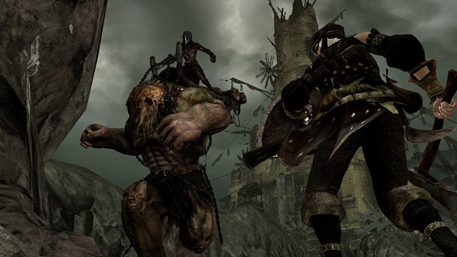 Dark Souls 2 Screens Battle Against Giant