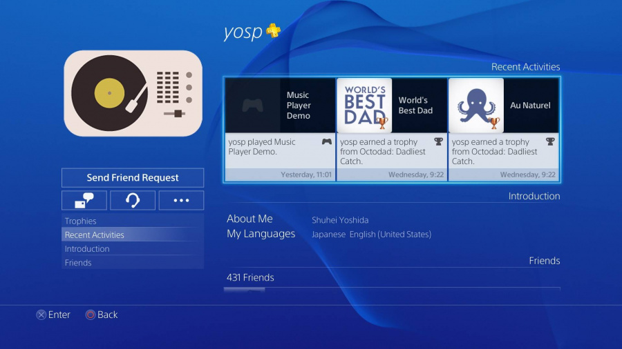 PS4 Music Player