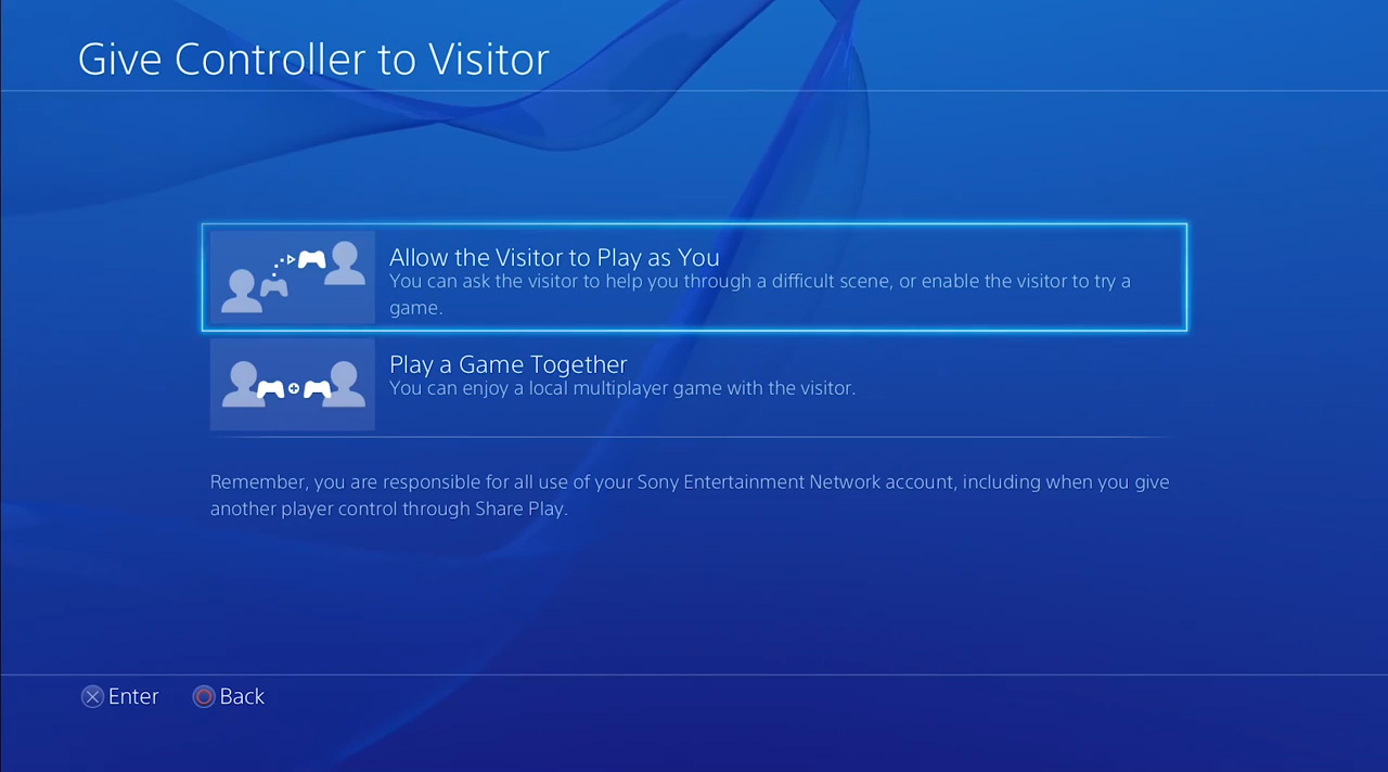 how to use share play on the ps4 guide push square
