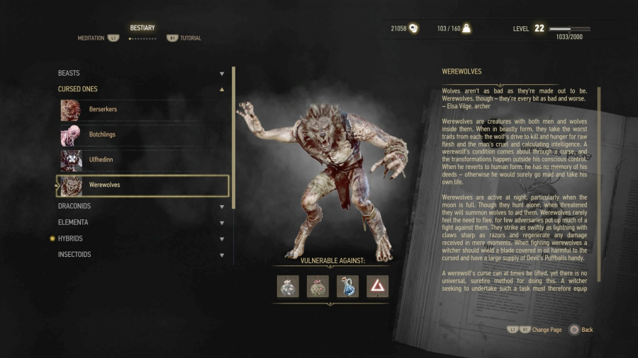 The Witcher 3 PS4 PlayStation 4 Werewolves Hints