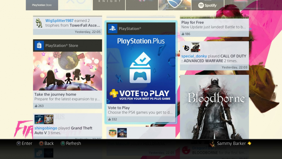 PS4 PlayStation Plus Sony Vote to Play