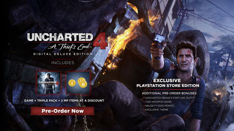 Uncharted 4 A Thief's End PS4 PlayStation 4 1