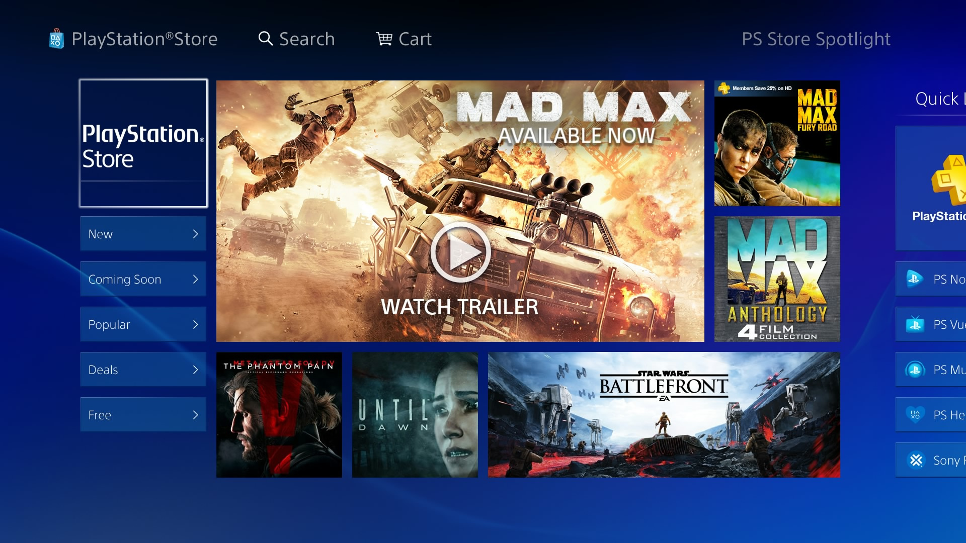 Sony's Given the North American PlayStation Store a