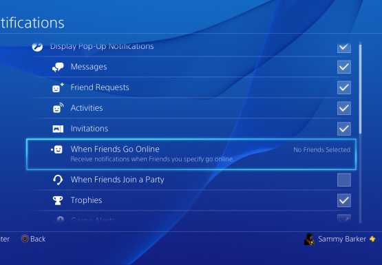 how to change online status on ps4