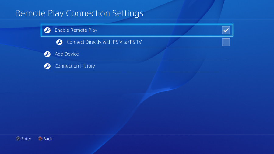 Remote Play Connection Settings PS4 PlayStation 4 1