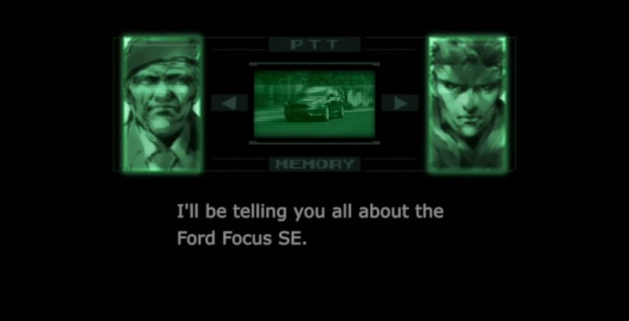 Metal Gear Solid Ford Commercial
