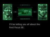 Snake, Roy Campbell, and Psycho Mantis Are, Er, Promoting Ford Cars