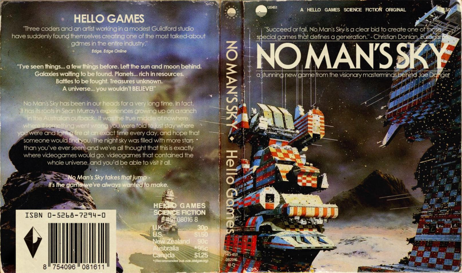 Classic Book Covers Reimagined ~ These alternate no man s sky ps covers look just like