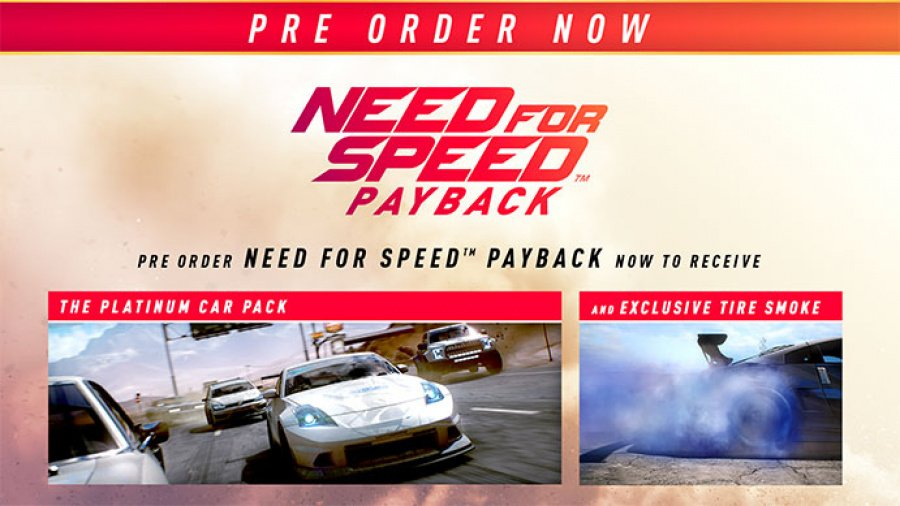Need for Speed Payback PS4 PlayStation 4 2