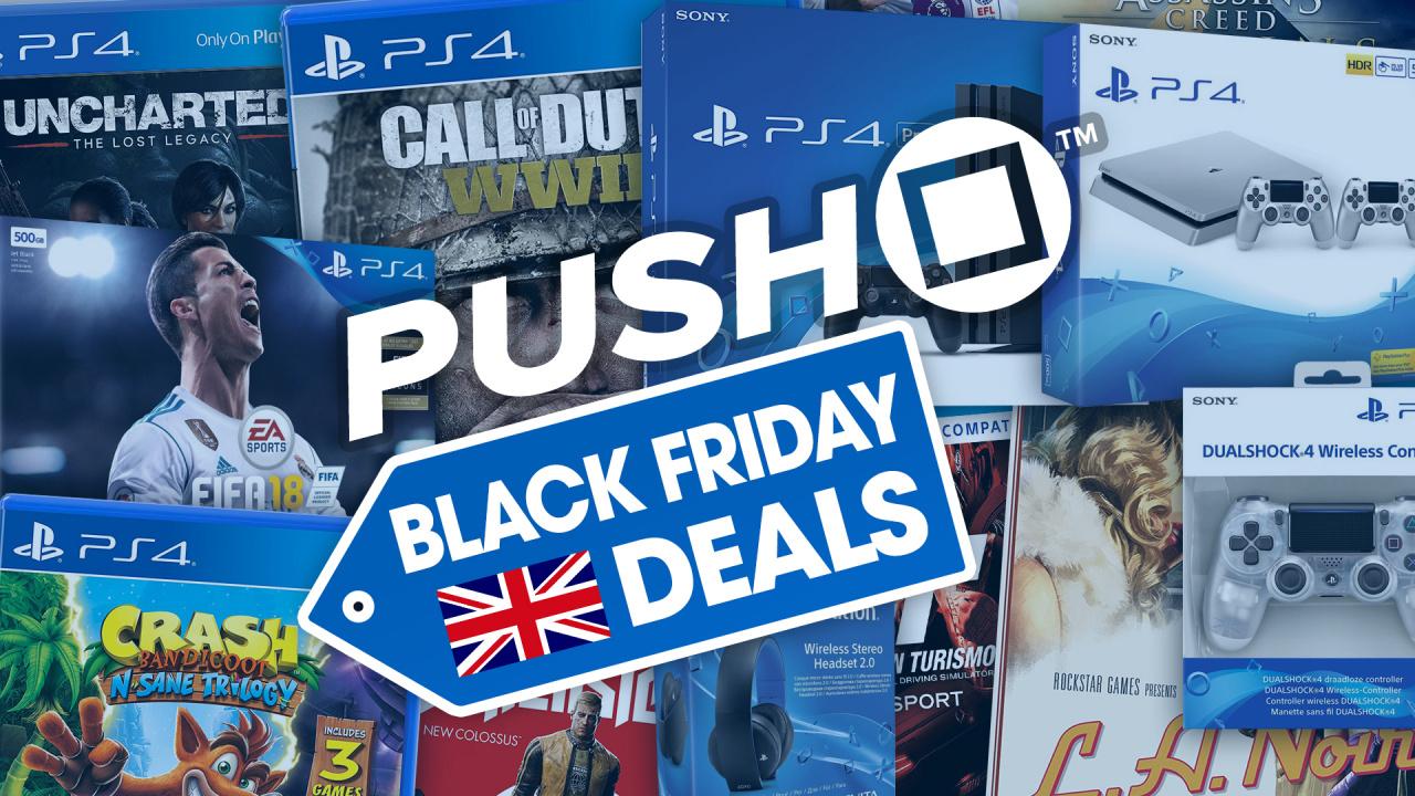 best ps4 black friday 2017 deals uk playstation 4 bundles accessories 4k tvs for ps4 pro. Black Bedroom Furniture Sets. Home Design Ideas