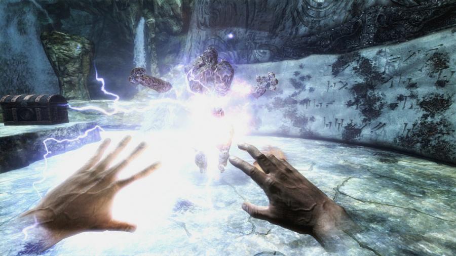 The Elder Scrolls V Skryim VR PlayStation VR Hands On PS4 3