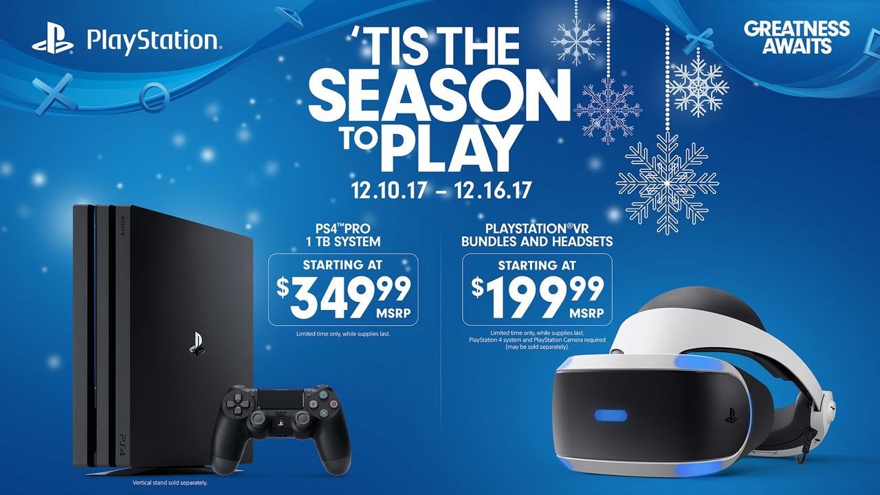 sony temporarily cuts price of ps4 pro psvr for christmas. Black Bedroom Furniture Sets. Home Design Ideas