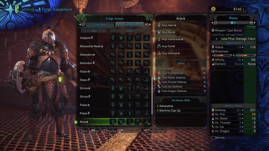 Monster Hunter: World Armor Armour Sets 52